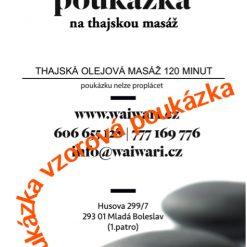 Darkovy poukaz Thajska olejova masaz 120 minut vzor
