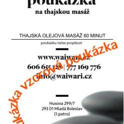 Darkovy poukaz Thajska olejova masaz 60 minut vzor