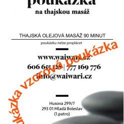 Darkovy poukaz Thajska olejova masaz 90 minut vzor