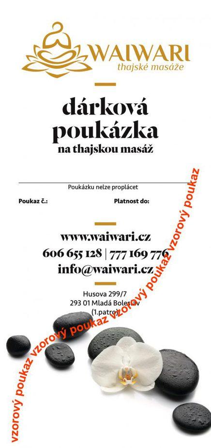 Waiwari darkovy poukaz vzor