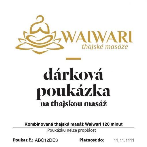 Poukaz Kombinovana thajska masaz Waiwari 120 minut