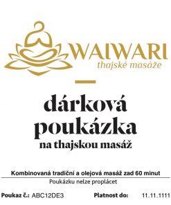 Poukaz Kombinovana tradicni a olejova masaz zad 60 minut