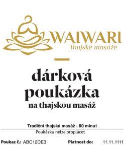 Poukaz Tradicni thajska masaz 60 minut